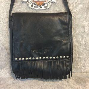 Authentic Harley Davidson Leather Shoulder Bag